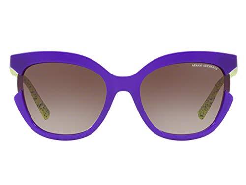 Armani Exchange AX4065S Sonnenbrille Violette Mit Braunem Verlaufsglas Gläsern 55mm 822213 AX 4065S