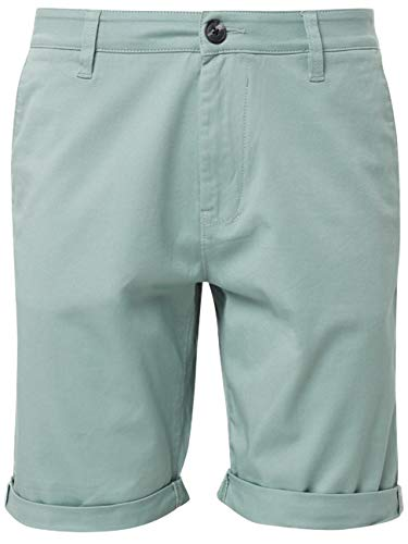 TOM TAILOR Denim für Männer Hosen & Chino Chino Shorts Smoke Green, XL Slim Stretch-cord-hose