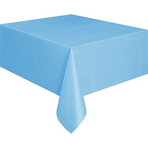 Haihuic Premium Einweg-Tischdecke aus Kunststoff 137 cm x 274 cm Rechteck Tischtuch für Picknick/Party, Hellblau