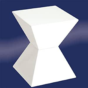 EDGE Funky White High Gloss Lacquered End Table