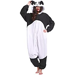 YUWELL Kigurumi Pijamas Traje Disfraz Animal Adult Pyjamas Cosplay Homewear Halloween, Nuevo panda L (Height:170-180cm)