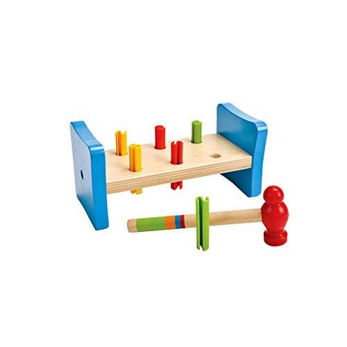 Hölzerner Schlag Des Werkzeugkastens Spielzeugkinder, Der Pädagogische Spielwaren Übung Hand-Auge-Koordination Zusammenbaut (Farbe : Bunte, größe : L)