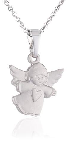 Xaana Kinder-Anhänger Engel matt incl Kette 36 38 cm rhod