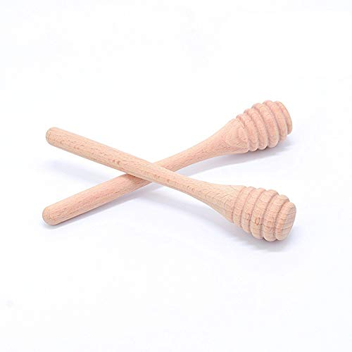 Lyanther Holz Stir Bar Honig Bambus Löffel Rühren Stick Für Dicken Sirup Saucen Kaffee Milch Tee Marmelade Rühren Gadget 2 stücke