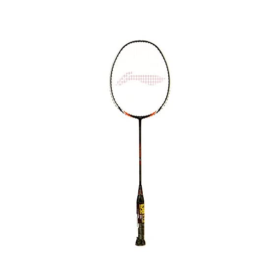 Li-Ning US 930 Ultra Strong Carbon-Graphite Strung Badminton Racquet, S2 (Black/White)