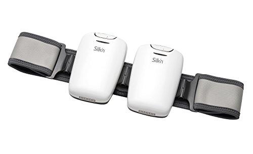 Silk'n Lipo Gürtel zur Behandlung von verschiedenen Körperpartien, LLLT und EMS Technologie, Weiß -