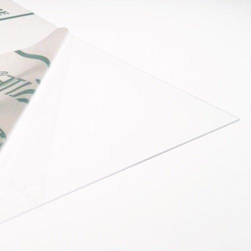 Lámina de plástico PETG transparente de 1mm de espesor, 9tamaños a elegir, ideal para ventanas de casa de muñecas, color transparente 420mm x 297mm / A3
