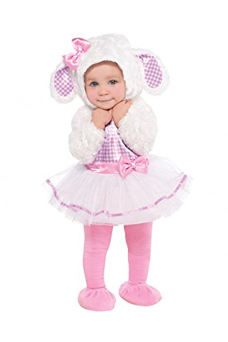 Kleinkinder Little Lamb New Cute Kids Baby Girl Kinder Fancy Dress Outfit Kostüm (Hit Girl Comic Kostüm)