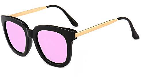 XFWED Polarisierte Sonnenbrille,Polarisierte Herren Sonnenbrille,Retro Sonnenbrille,Hornrahmen Halber Rahmen,Metallrahmen Ist Ultraleicht,Mit Uv582-Schutzretro Brille Weibliche Models Farbe Sonnenbr