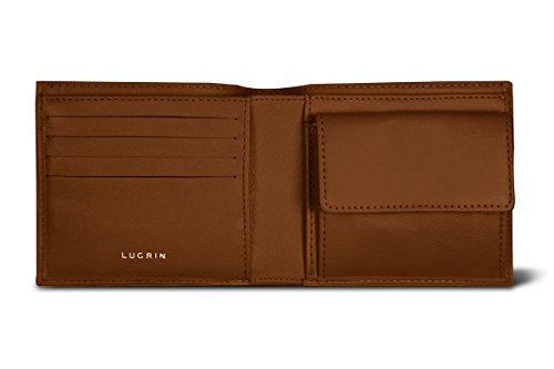 Lucrin - Standardportemonnaie - Braun - Glattleder Cognac