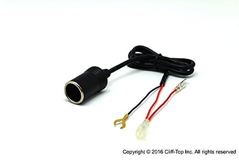 Cliff-Top® 12-24V DC Motorrad Hard-Wire Zigarettenanzünder Steckdose (Bullet und