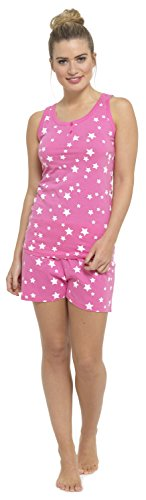 tom franks cotton rich printed shorts & vest pyjama set - 31GbqnWyJxL - Tom Franks Cotton Rich Printed Shorts & Vest Pyjama Set