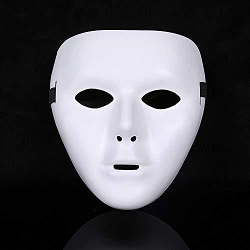 Dance Kostüm Jabbawockeez - AffoOn 3 Stücke Weiß Halloween Party Maskerade Hip Hop Ghost Dance Kostüm Maske