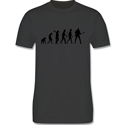 Evolution - Gitarrist Evolution - XL - Dunkelgrau - L190 - Herren T-Shirt Rundhals (Gitarristen Nur T-shirt)