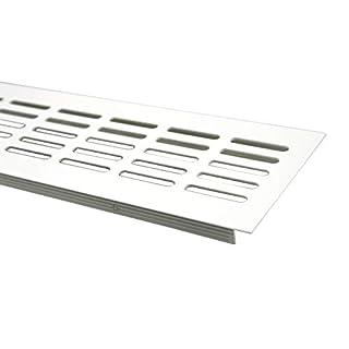 Lüftungsgitter Aluminium Stegblech Lüftung 80 mm x 1000 mm in Verschiedenen Farben (Weiß pulverbeschichtet)