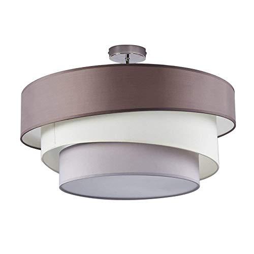 Deckenleuchte Wohnzimmer Modern Runde 3 Schichten 3 flammig Design Stoff  Lampe Schlafzimmer Esszimmer Deckenlampe Rustikal Deckenbeleuchtung ...