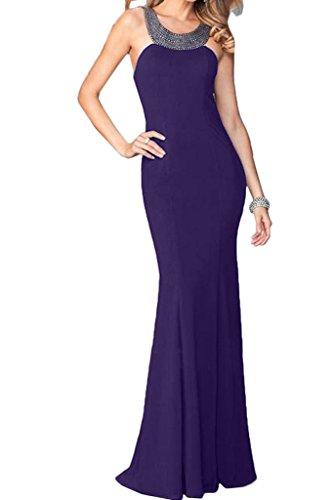 ivyd ressing Femme Haute Qualité Pierres rueckenfrei Étui ligne Party robe Prom Lave-vaisselle robe robe du soir Violet