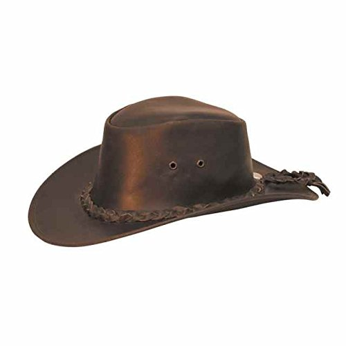 Cicalzoo Cappello Western in Cuoio con Treccia e Laccio Abbigliamento Western  Cappelli 796a1846cc42