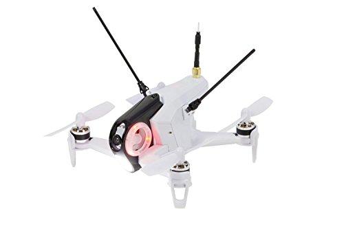a9e19a80a3 Walkera FPV 15004450 QuadroCopter de Racing Rodeo 150 Drone RTF avec caméra  HD, Masque V4 Lunettes vidéo, batterie, chargeur et Devo 7 Blanc - Hi-tech  ...
