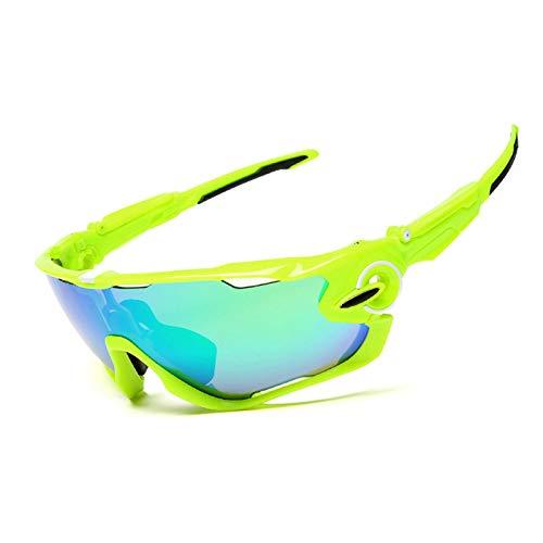 Coniea Motorradbrille Winddicht PC Radbrille Frauen Schutzbrillen Grün - Frauen-ski-schutzbrillen Grün