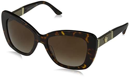 Versace Damen 0VE4305Q 108/13 54 Sonnenbrille, Braun (Dark Havana/Browngradient),