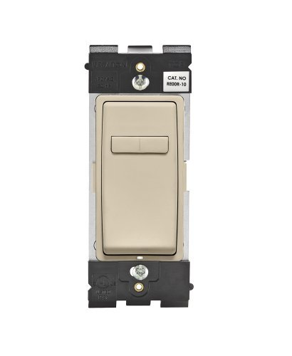 Leviton Renu RE00R-NS Coordinating Dimmer Remote for 3-Way or Multi-Location Control, for use with REI06, in Navajo Sand by Leviton Leviton Dimmer