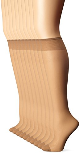 L'eggs Everyday Knee Highs RT 10 Pair ONESIZE Brown (Schiere Denier 10)