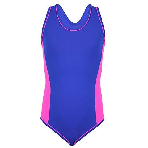 e2fb438cfcc0 Aquarti Mädchen Badeanzug Racerback Kinder Schwimmanzug , Farbe  Violett    Pink, Größe  140
