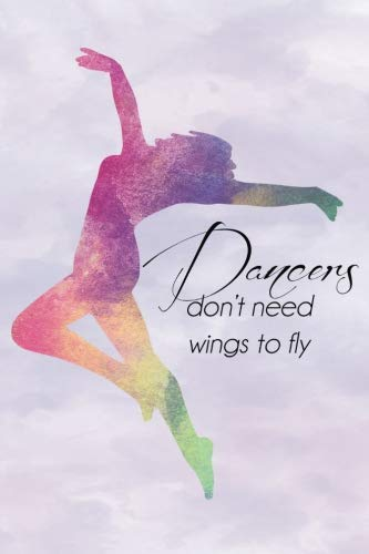 Dancers Dont Need Wings Rainbow Journal, Dot Grid: Dotted Paper Notebook for Bullet Journaling por Enchanted Willow