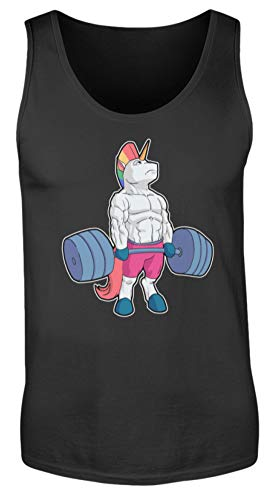 Deadlift Einhorn Unicorn Fitness Training Gym Shirt Workout Geschenk Geschenkidee - Herren Tanktop -L-Schwarz