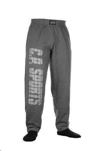 C.P.Sports Herren Traininghose S11 Gr.L Body Pant Bodybuilding Hose Fitness Sweatpants Fitnesshose in Dunkelgrau, Jogginghose
