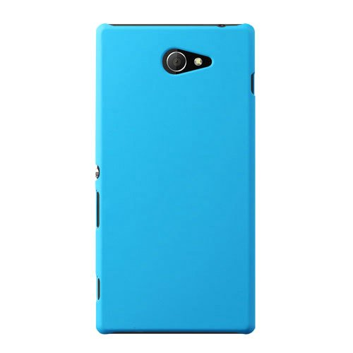 WOW Imagine(TM) Rubberised Matte Hard Case Back Cover For SONY XPERIA M2 / M2 DUAL (Sky Blue)  available at amazon for Rs.169