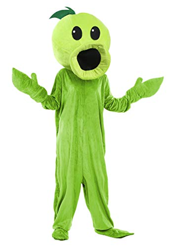 Kostüm Reißverschluss Zombie - Erwachsene Pflanzen gegen Zombies Peashooter Kostüm - ST