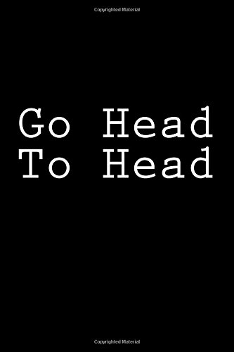 Go Head To Head: Notebook, 150 lined pages, softcover, 6 x 9 por Wild Pages Press