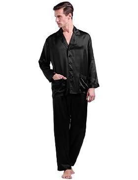 Lilysilk Conjunto De Pijamas Largas De 100% Seda Natural De 22 Momme De Grado 6A Para Hombre