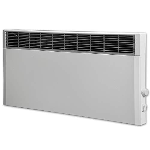 Elektroheizung, Heizkörper, Speicherheizung/Schamottespeicher mit integrierten Thermostat und Wandhalterung - 2500 Watt - Maße: (BxHxT): 90,0cm x 44,5cm x 8,5cm