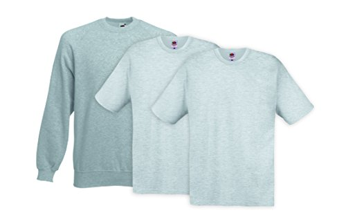 Fruit of the Loom Herren T-Shirt 3er Pack Mehrfarbig (Multicoloured 11)