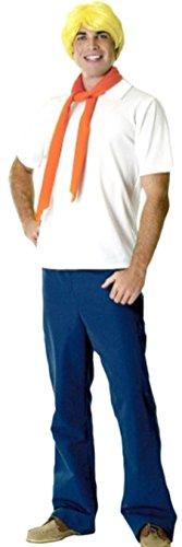 Zauberclown - Herren Karnevalskomplettkostüm Scooby Doo`s Fred , M-XL, (Maske Scooby)