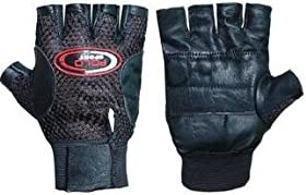 Aadishwar Creations Leather Multipurpose Gym Gloves With Padded Palm Support & Net Upside