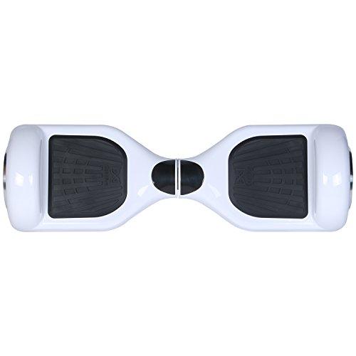 """Cool&Fun Hoverboard Patinete Eléctrico Scooter Monopatín Eléctrico Auto-equilibrio Patín de 6.5"""" de Shop Gyrogeek(Blanco)"""
