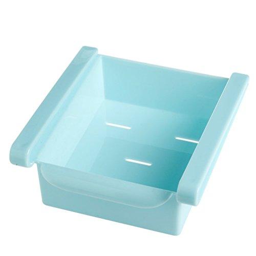 BESTOMZ Aufbewahrungskiste,Schieben Sie Küche Kühlschrank Gefrierschrank Space Saver Organizer Schublade Halter Aufbewahrungsbox -