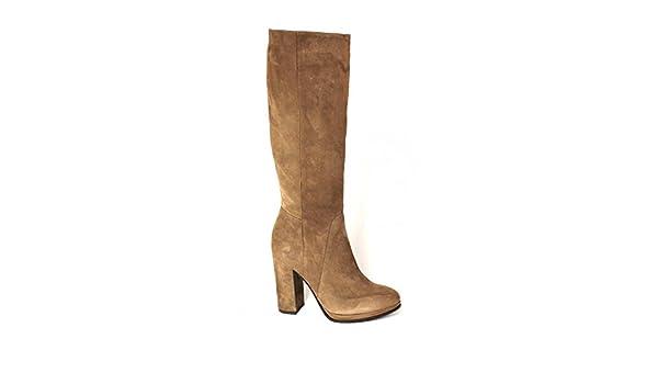 a8f845231d6c06 Divine Madness 421773 braune Stiefel Frauentube seitlicher Reißverschluss  Leder Ferse 38  Amazon.de  Schuhe   Handtaschen