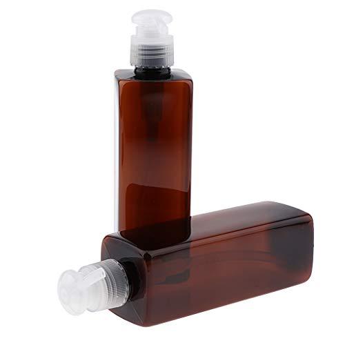 perfeclan 2x 250 ml Pompe Bouteilles Shampooing Distributeur à Pompe de Savon de Maison - Pompe transparente