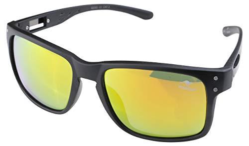 ROADSIGN Sonnenbrille Unisex UV 400 SchutzI Modell Wayfarer I Glasfarbe: gelb