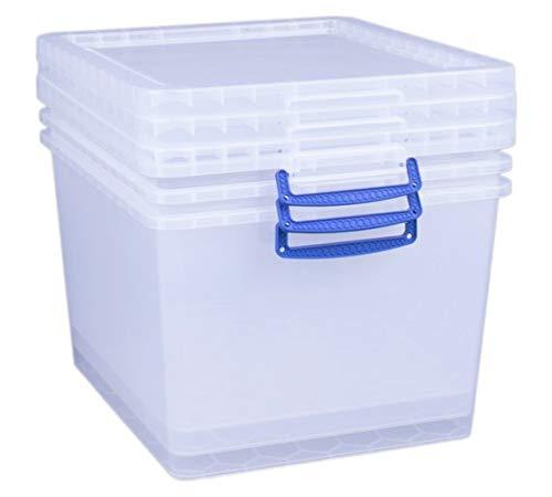 Really Useful Lot de 3 boîtes de Rangement pour Dessous de lit 43 l
