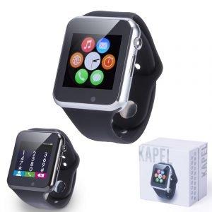 Smartwatch, mit Silikon-Armband, 20Funktionen, Bluetooth, LCD Display 1,54'. Mehrsprachige Benutzeroberfläche, Akku USB. Smart Uhren Günstige Sport