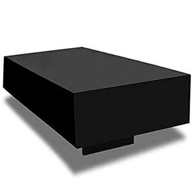 Black High Gloss Coffee Table 85 cm - inexpensive UK light shop.