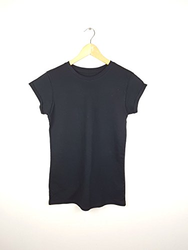 Generic Damen T-Shirt schwarz schwarz Gr. 16, schwarz (Burnout-raglan-t-shirt)