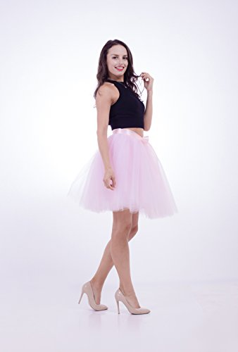 SCFL Donna Tutu Gonna Petticoat Underskirt Balletto Gonna Slip Half Rosa