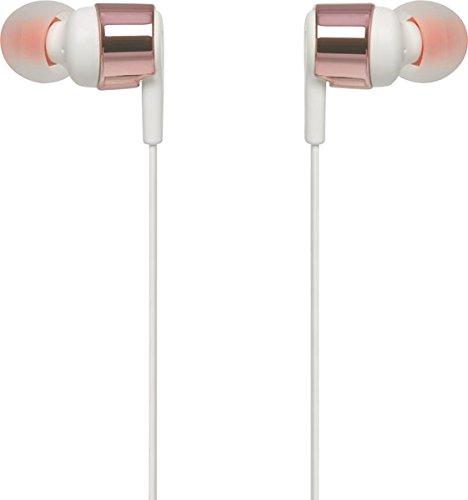 Image of JBL T210 In-Ear Kopfhörer Ohrhörer mit 1-Tasten-Fernbedienung und Integriertem Mikrofon Kompatibel mit Apple und Android Geräten - Roségold